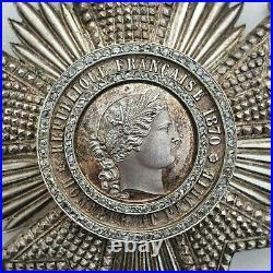 Légion d'Honneur, plaque de Grand officier, III° République, diamants