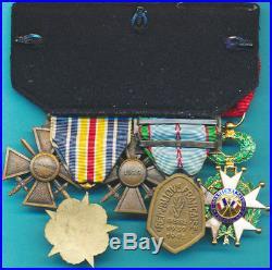 Légion dHonneur Officier, Croix 1939, TOE, Commémo 1939-1945 3 agrafes, blessés