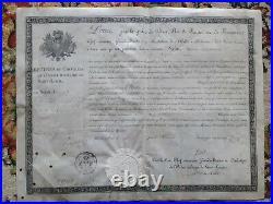 Lettre De Chevalier De L'ordre Royal Et Militaire De Saint Louis Restauration