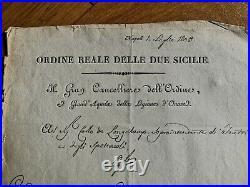 Lettre De Nomination Ordre Royale Des Deux-siciles 1809 Signature Joachim Murat