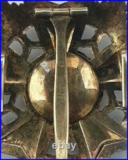 Liban Ordre du Cèdre, plaque de Grand Croix en argent et vermeil