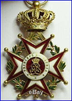 Lordre de Saint-Charles (Monaco), en or, sans ruban / n304
