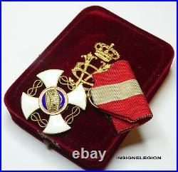 Lordre de la Couronne dItalie, en or, chevalier avec boite d'origine