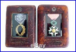 Lot 2 Medailles Palme Academique Republique Francaise 1870 (e52)