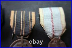 Lot 4 médailles d'un compagnon de la libération WW2 Pas casque allemand