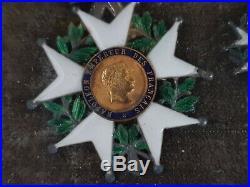 Lot 5 ordres médailles XIXe légions d'honneur et miniatures réductions Napoléon