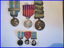 Lot 6 Médaille militaire Coloniale ALGERIE. Campagne italie et reduction argent