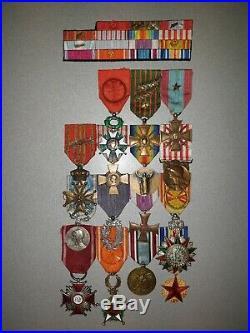 Lot De Medailles D' Un Colonel 14-18 Campagne De Pologne Et Du Maroc