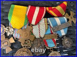 Lot De Médailles Militaire Algérie Extrême Orient Croix De Guerre