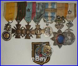 Lot De Medailles Militaires D' Un Sous Officier Annam, 14 18, Et Maroc Rif