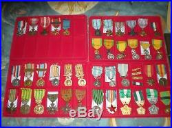 Lot de + de 50 medailles militaire