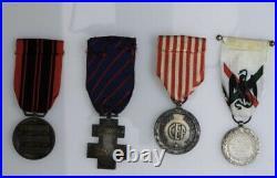 Lot de médailles militaires diverses