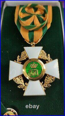 Luxembourg Ordre De La Couronne De Chêne Officier En écrin Medal