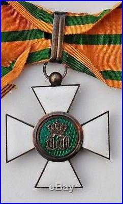 Luxembourg Ordre de la Couronne de Chêne, croix de commandeur en vermeil