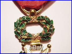Médaille Officier ordre Légion d'Honneur 1870 luxe Napoléon Verdun 14-18 en or