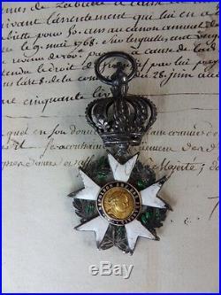 Médaille croix d'officier de la légion d'honneur Premier Empire 3ème type