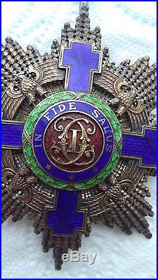 Médaille décoration Roumanie argent Ordre de l'étoile, Joseph Resch années 30