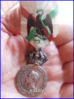 Médaille du MEXIQUE 1862-1863 / Modèle CENT GARDES / Rare