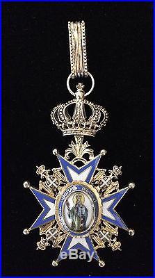 Médaille officier Commandeur Ordre Royal Saint SAVA Serbie serbe 19e 20e vermeil