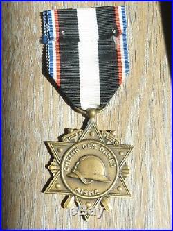 MA% Belle médaille de l'AISNE chemins des dames guerre 1914 1918 french Medal