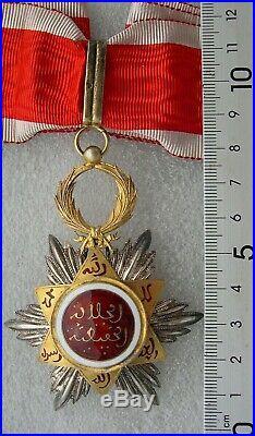 MAROC COMMANDEUR ORDRE DU OUISSAM HAFIDIEN médaille