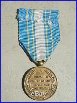 MB% Médaille militaire commémorative des combats de Champagne NAVARIN 14 18