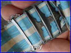 MEDAILLE COLONIALE 1er Type avec 4 AGRAFES poinçons Argent dont 3 avec Clapets