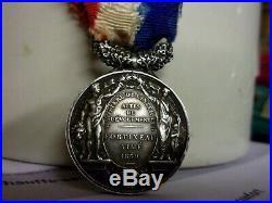 MEDAILLE D'HONNEUR Argent Napoléon III Actes de Courage et Dévouement 1869 medal