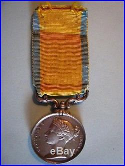 MEDAILLE DE LA BALTIQUE Argent NAPOLEON III / Reine VICTORIA SUP