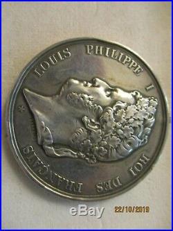 MEDAILLE HON SAUVETAGE LOUIX PHILIPPE 1829 THOUARS DEUX-SEVRES gros mod. 52 mms