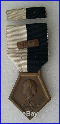 MEDAILLE LIBERATION DE METZ 1944 avec son rappel