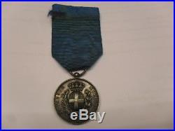 MEDAILLE VALEUR MILITAIRE SARDE 1859 lieutenant 4°VOLTIGEUR GARDE IMPERIAL