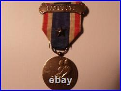 MEDAILLE fidélité Alsace Lorraine bronze- GUERRE 1914/1918 avec agrafe 1 étoile