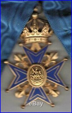 Magnifique Médaille ordre St. Georges de Bourgogne grand croix écharpe & croix