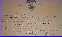 Maire de castelnaudary diplôme légion d'honneur médailles militaires 1914-1918