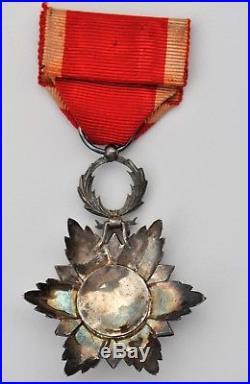 Maroc Chevalier de l'ordre du Nicham Hafidien, argent