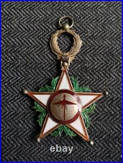 Maroc Ensemble Grand Croix De L'ordre Du Ouissam Alaouite Médaille Décoration