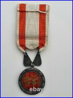 Maroc Ordre du Mérite Militaire Chérifien, argent et émail