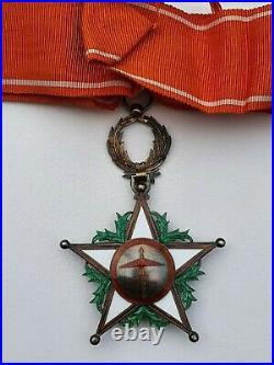 Maroc Ordre du Ouissam Alaouite, commandeur en vermeil, parfait état