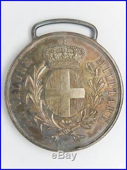 Med 595 Medaille Italie Valeur Militaire Sarde Al Valore Militare