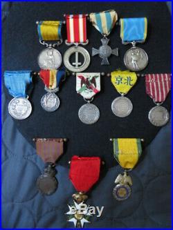 Méd militaire, napoléon, légion, chine, mexique, valeur sarde, castelfidardo