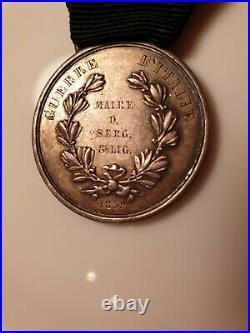 Médaille AL VALORE MILITARE de la Valeur Militaire Sarde Guerre d'Italie 1859