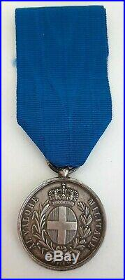Médaille Al Valore Militare Guerre Spedizione d'oriente Crimée attribuée
