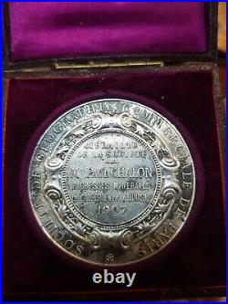 Médaille Argent ALGERIE SOCIETE GEOGRAPHIE COMMERCIALE DE PARIS L BOTTE MEDAL