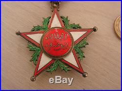 Medaille COMMANDEUR DU OUISSAM ALAOUITE