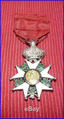Medaille Chevalier De La Legion D'honneur Napoleon III + Boite 420313