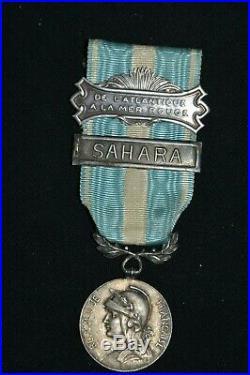 Medaille Coloniale Agrafes De L'atlantique A La Mer Rouge & Sahara