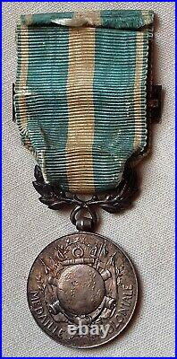 Médaille Coloniale Argent agrafe CÔTE d'IVOIRE ORIGINAL French Medal