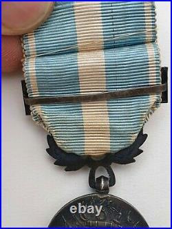 Médaille Coloniale, argent, barrette simple Sud-Oranais en metal argenté