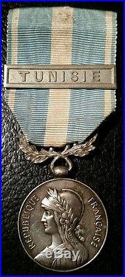 Médaille Coloniale épaule haute Tunisie Lemaitre